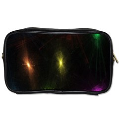 Star Lights Abstract Colourful Star Light Background Toiletries Bags