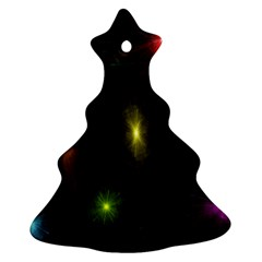 Star Lights Abstract Colourful Star Light Background Christmas Tree Ornament (two Sides)