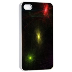 Star Lights Abstract Colourful Star Light Background Apple Iphone 4/4s Seamless Case (white)