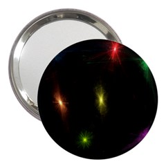 Star Lights Abstract Colourful Star Light Background 3  Handbag Mirrors