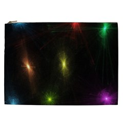 Star Lights Abstract Colourful Star Light Background Cosmetic Bag (xxl)