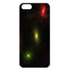 Star Lights Abstract Colourful Star Light Background Apple Iphone 5 Seamless Case (white)