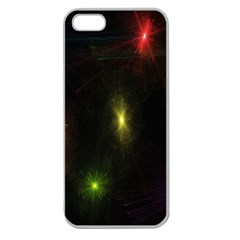 Star Lights Abstract Colourful Star Light Background Apple Seamless Iphone 5 Case (clear)