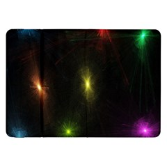 Star Lights Abstract Colourful Star Light Background Samsung Galaxy Tab 8.9  P7300 Flip Case
