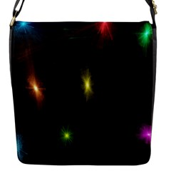 Star Lights Abstract Colourful Star Light Background Flap Messenger Bag (S)