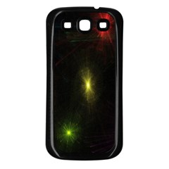 Star Lights Abstract Colourful Star Light Background Samsung Galaxy S3 Back Case (Black)