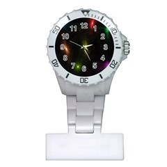 Star Lights Abstract Colourful Star Light Background Plastic Nurses Watch