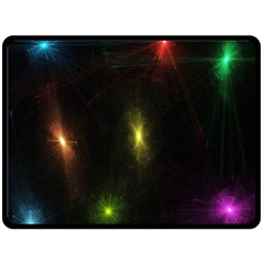 Star Lights Abstract Colourful Star Light Background Double Sided Fleece Blanket (Large)
