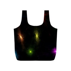 Star Lights Abstract Colourful Star Light Background Full Print Recycle Bags (S)