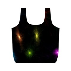 Star Lights Abstract Colourful Star Light Background Full Print Recycle Bags (m)