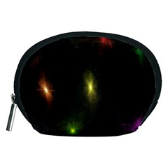 Star Lights Abstract Colourful Star Light Background Accessory Pouches (Medium)