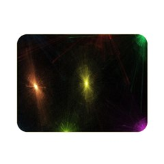 Star Lights Abstract Colourful Star Light Background Double Sided Flano Blanket (mini)