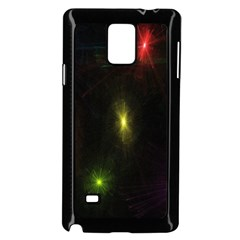 Star Lights Abstract Colourful Star Light Background Samsung Galaxy Note 4 Case (Black)