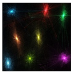 Star Lights Abstract Colourful Star Light Background Large Satin Scarf (square)