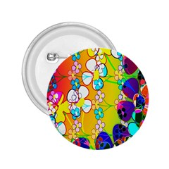 Abstract Flowers Design 2.25  Buttons