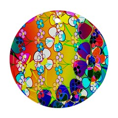 Abstract Flowers Design Ornament (Round)