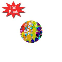 Abstract Flowers Design 1  Mini Magnets (100 pack)