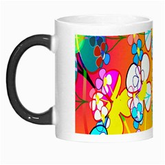 Abstract Flowers Design Morph Mugs