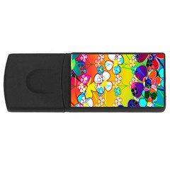 Abstract Flowers Design Usb Flash Drive Rectangular (4 Gb)
