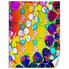 Abstract Flowers Design Canvas 12  x 16