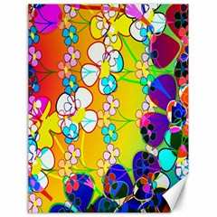 Abstract Flowers Design Canvas 18  X 24