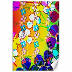 Abstract Flowers Design Canvas 24  X 36