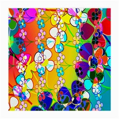 Abstract Flowers Design Medium Glasses Cloth (2 Side)