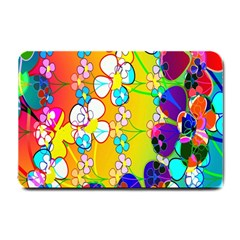 Abstract Flowers Design Small Doormat