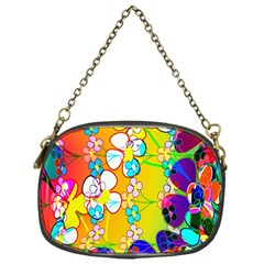 Abstract Flowers Design Chain Purses (one Side)