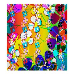 Abstract Flowers Design Shower Curtain 66  X 72  (large)