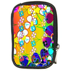Abstract Flowers Design Compact Camera Cases