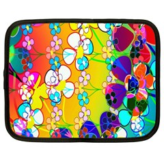 Abstract Flowers Design Netbook Case (xxl)