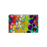 Abstract Flowers Design Cosmetic Bag (Small)  Front