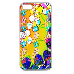 Abstract Flowers Design Apple Seamless iPhone 5 Case (Clear)
