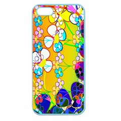 Abstract Flowers Design Apple Seamless Iphone 5 Case (color)