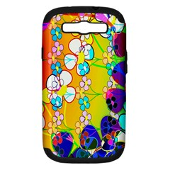 Abstract Flowers Design Samsung Galaxy S III Hardshell Case (PC+Silicone)
