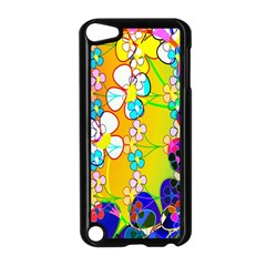 Abstract Flowers Design Apple iPod Touch 5 Case (Black)