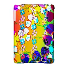 Abstract Flowers Design Apple Ipad Mini Hardshell Case (compatible With Smart Cover)