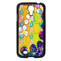 Abstract Flowers Design Samsung Galaxy S4 I9500/ I9505 Case (black)