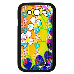 Abstract Flowers Design Samsung Galaxy Grand Duos I9082 Case (black)