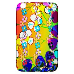 Abstract Flowers Design Samsung Galaxy Tab 3 (8 ) T3100 Hardshell Case
