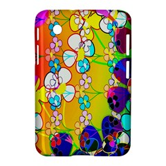 Abstract Flowers Design Samsung Galaxy Tab 2 (7 ) P3100 Hardshell Case