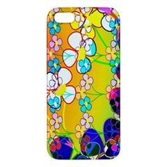 Abstract Flowers Design iPhone 5S/ SE Premium Hardshell Case