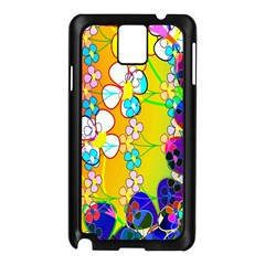 Abstract Flowers Design Samsung Galaxy Note 3 N9005 Case (black)