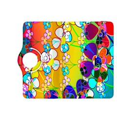 Abstract Flowers Design Kindle Fire Hdx 8 9  Flip 360 Case