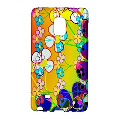 Abstract Flowers Design Galaxy Note Edge
