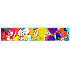 Abstract Flowers Design Flano Scarf (large)