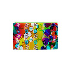Abstract Flowers Design Cosmetic Bag (XS)
