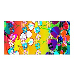 Abstract Flowers Design Satin Wrap