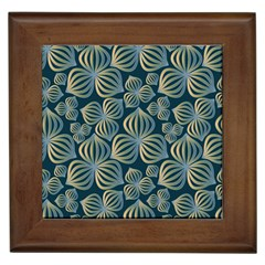 Gradient Flowers Abstract Background Framed Tiles